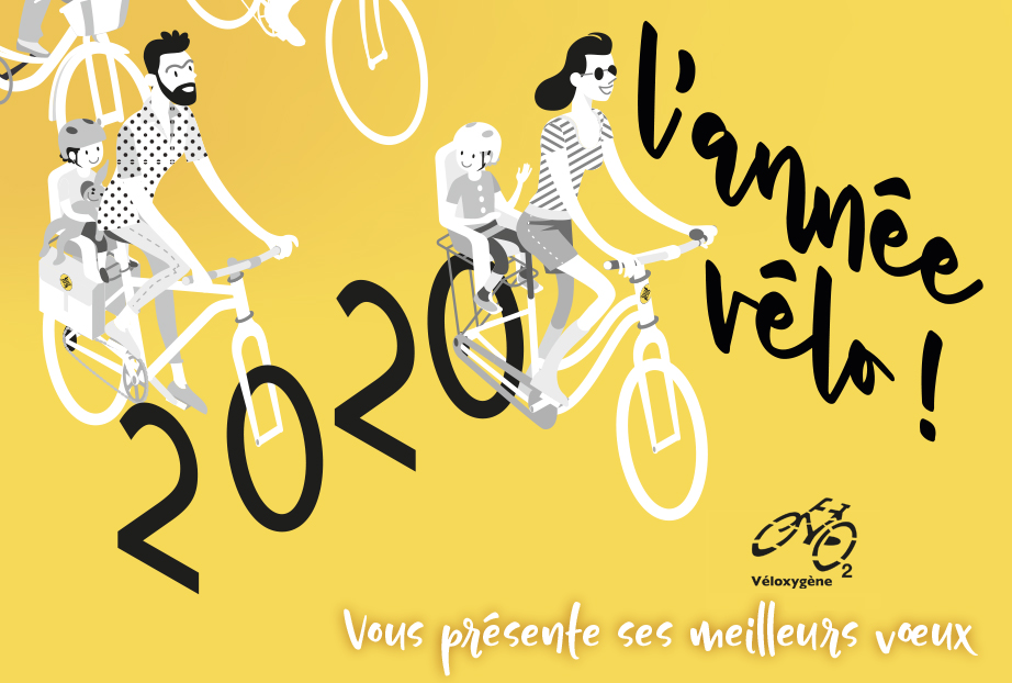 Véloxygène vous présente ses meilleurs vœux pour que 2020 soit une année cyclable pour tous !